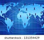 global communication network... | Shutterstock .eps vector #131354429
