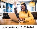 african american business woman ... | Shutterstock . vector #1313544941