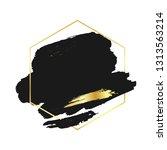 abstract black brush background ...   Shutterstock .eps vector #1313563214