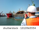 engineering  harbor master or... | Shutterstock . vector #1313565554