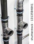 ceramic metal pipes  couplings... | Shutterstock . vector #1313584841
