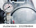 pressure gauge for measuring... | Shutterstock . vector #1313584844