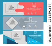 set of banner template with...   Shutterstock .eps vector #1313591684