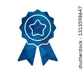 vector ribbon icon  | Shutterstock .eps vector #1313598647