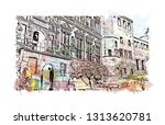 heidelberg castle is a ruin in... | Shutterstock .eps vector #1313620781