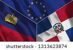 lichtenstein and dominican...   Shutterstock . vector #1313623874