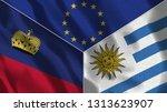 lichtenstein and uruguay 3d...   Shutterstock . vector #1313623907
