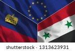 lichtenstein and syria 3d...   Shutterstock . vector #1313623931