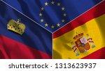 lichtenstein and spain 3d...   Shutterstock . vector #1313623937
