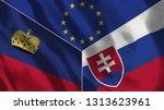 lichtenstein and slovakia 3d...   Shutterstock . vector #1313623961