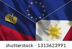 lichtenstein and philippines 3d ...   Shutterstock . vector #1313623991