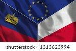 lichtenstein and poland 3d...   Shutterstock . vector #1313623994