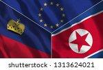 lichtenstein and north korea 3d ...   Shutterstock . vector #1313624021