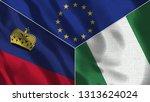 lichtenstein and nigeria 3d...   Shutterstock . vector #1313624024