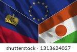 lichtenstein and niger 3d...   Shutterstock . vector #1313624027