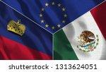 lichtenstein and mexico 3d...   Shutterstock . vector #1313624051