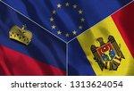 lichtenstein and moldova 3d...   Shutterstock . vector #1313624054