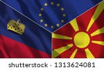 lichtenstein and macedonia 3d...   Shutterstock . vector #1313624081
