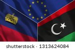 lichtenstein and libya 3d...   Shutterstock . vector #1313624084