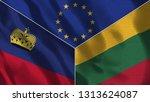 lichtenstein and lithuania 3d...   Shutterstock . vector #1313624087