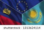 lichtenstein and kazakhstan 3d...   Shutterstock . vector #1313624114