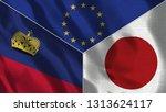 lichtenstein and japan 3d...   Shutterstock . vector #1313624117