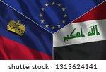 lichtenstein and iraq 3d...   Shutterstock . vector #1313624141