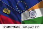lichtenstein and india 3d...   Shutterstock . vector #1313624144