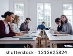 group of young business people... | Shutterstock . vector #1313625824