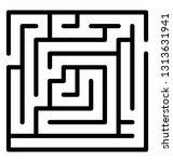 trap maze line icon design  | Shutterstock .eps vector #1313631941
