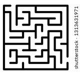 trap maze line icon design  | Shutterstock .eps vector #1313631971
