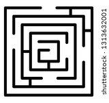 trap maze line icon design  | Shutterstock .eps vector #1313632001