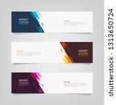 vector abstract web banner... | Shutterstock .eps vector #1313650724