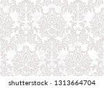 rococo baroque texture pattern... | Shutterstock .eps vector #1313664704