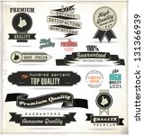 quality  vintage style labels | Shutterstock .eps vector #131366939