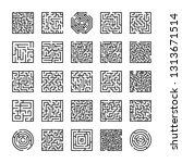 set of maze icons | Shutterstock .eps vector #1313671514