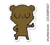 sticker of a peaceful cartoon... | Shutterstock .eps vector #1313689367