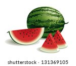 watermelon | Shutterstock .eps vector #131369105
