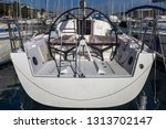 helm station on sailing boat in ... | Shutterstock . vector #1313702147