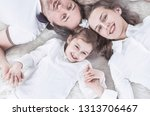 concept of family happiness ... | Shutterstock . vector #1313706467