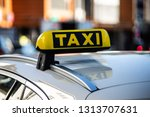taxi sign | Shutterstock . vector #1313707631