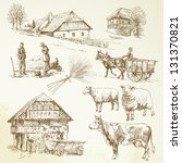 Hand Drawn Set   Rural...