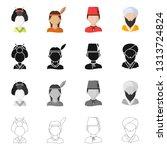 vector illustration of imitator ... | Shutterstock .eps vector #1313724824