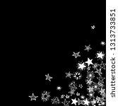 doodle stars. hand drawn... | Shutterstock .eps vector #1313733851