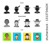 vector design of imitator and... | Shutterstock .eps vector #1313734634