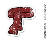 distressed sticker of a cartoon ... | Shutterstock .eps vector #1313756954