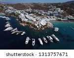 aerial drone photo of iconic... | Shutterstock . vector #1313757671