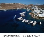 aerial drone photo of iconic... | Shutterstock . vector #1313757674