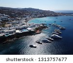 aerial drone photo of iconic... | Shutterstock . vector #1313757677