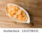 oranges at the dish on the...   Shutterstock . vector #1313758151